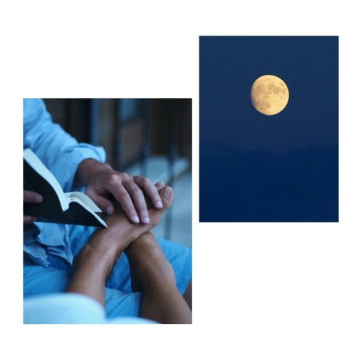 During quiet summer evenings, it was easier for her to read the spots on the moon than to focus on a book.