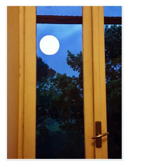 Full moon in Montesacro, Rome.