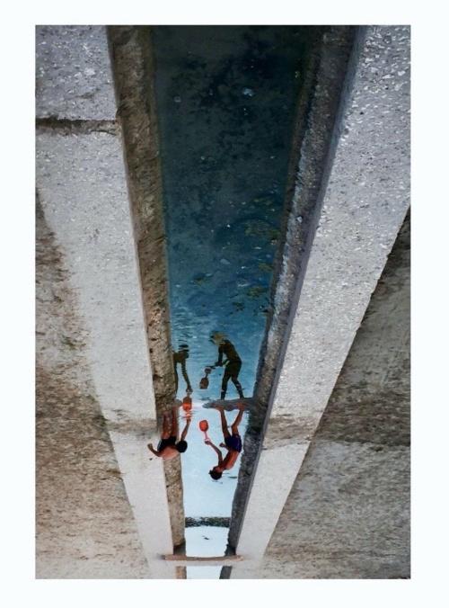 Boys play along River Idro before He meets the Sea in Otranto. Shot on phone.