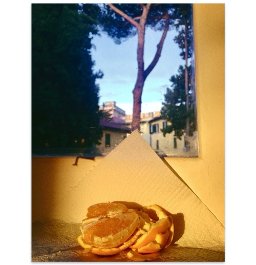 """Morning light at Dunis'. Too long ago. I do miss our non-breakfasts together, listening to the press review from three different radios, you asking permission to enter """"my"""" room, me stressed when the sun played his light games exactly when we had to run to the office, the toilet monster complaining of being left home alone."""